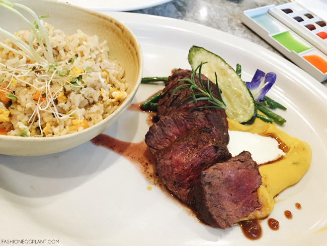pan seared grass fed hanging steak copy