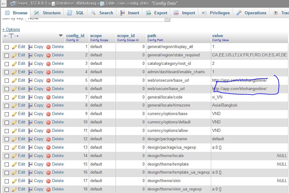 Di chuyển web Magento lên host