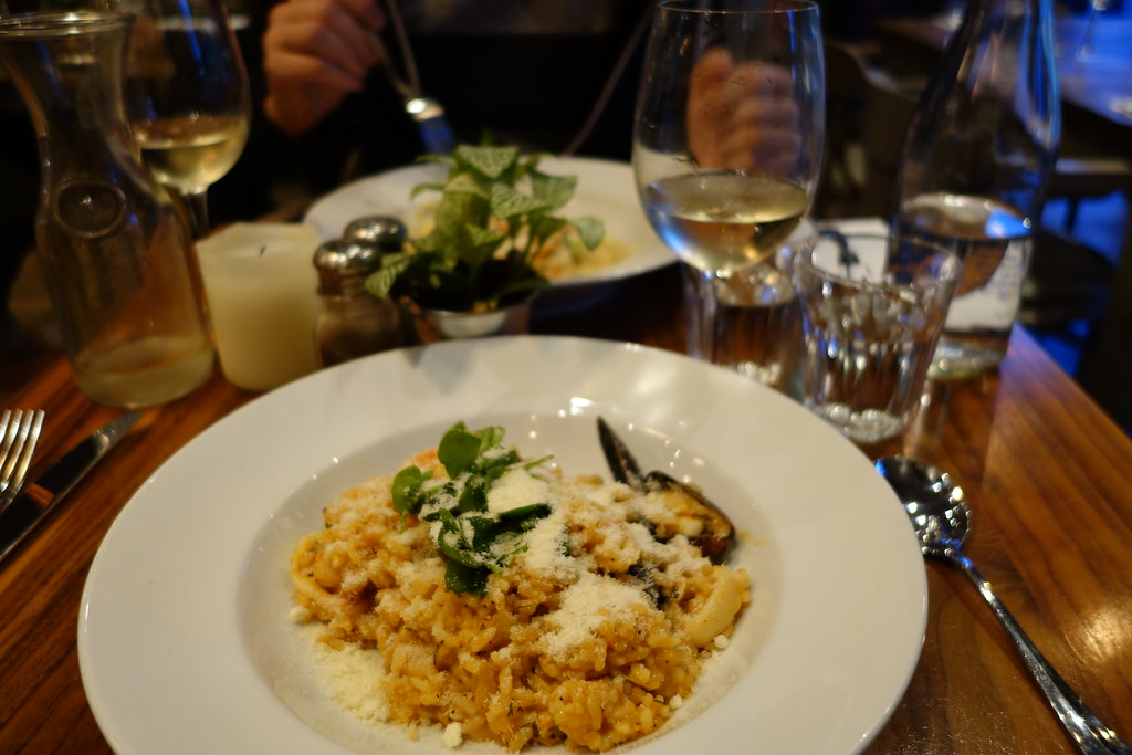 Mixed Seafood Risotto, The Blue Legume, Muswell Hill