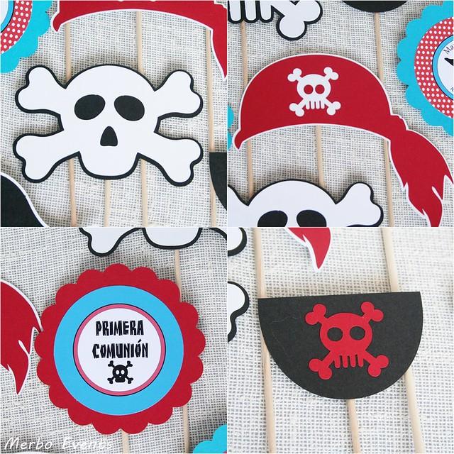 Pinchos temáticos para centros  de mesa pirata MErbo Events
