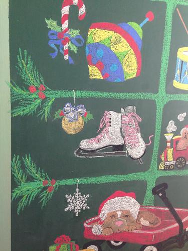 chalkboard tree detail