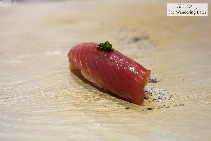 Bonito with spring onion