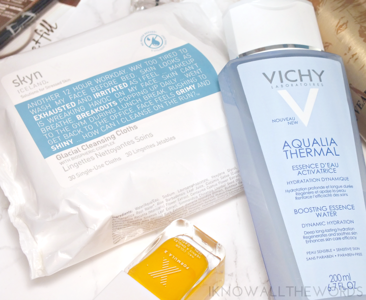 this that & other stuff skyn iceland glacial cleansing cloths vichy aqualia thermal boosting essence water