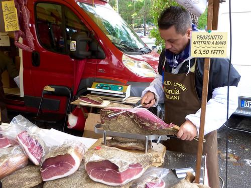 Carving prosciutto