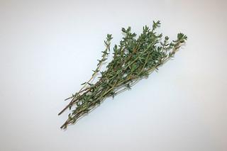 02 - Zutat Thymian / Ingredient thyme