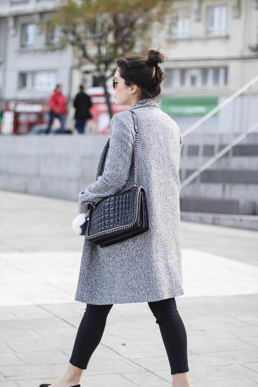 look abrigo gris La Redoute myblueberrynightsblog