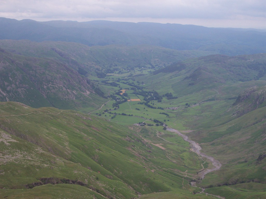 Looking down The Band into Langdale