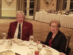 Warner and Ellen Hall arrange the dinner twice a year. Once at the holidays and again at the end of the year for the installment dinner.