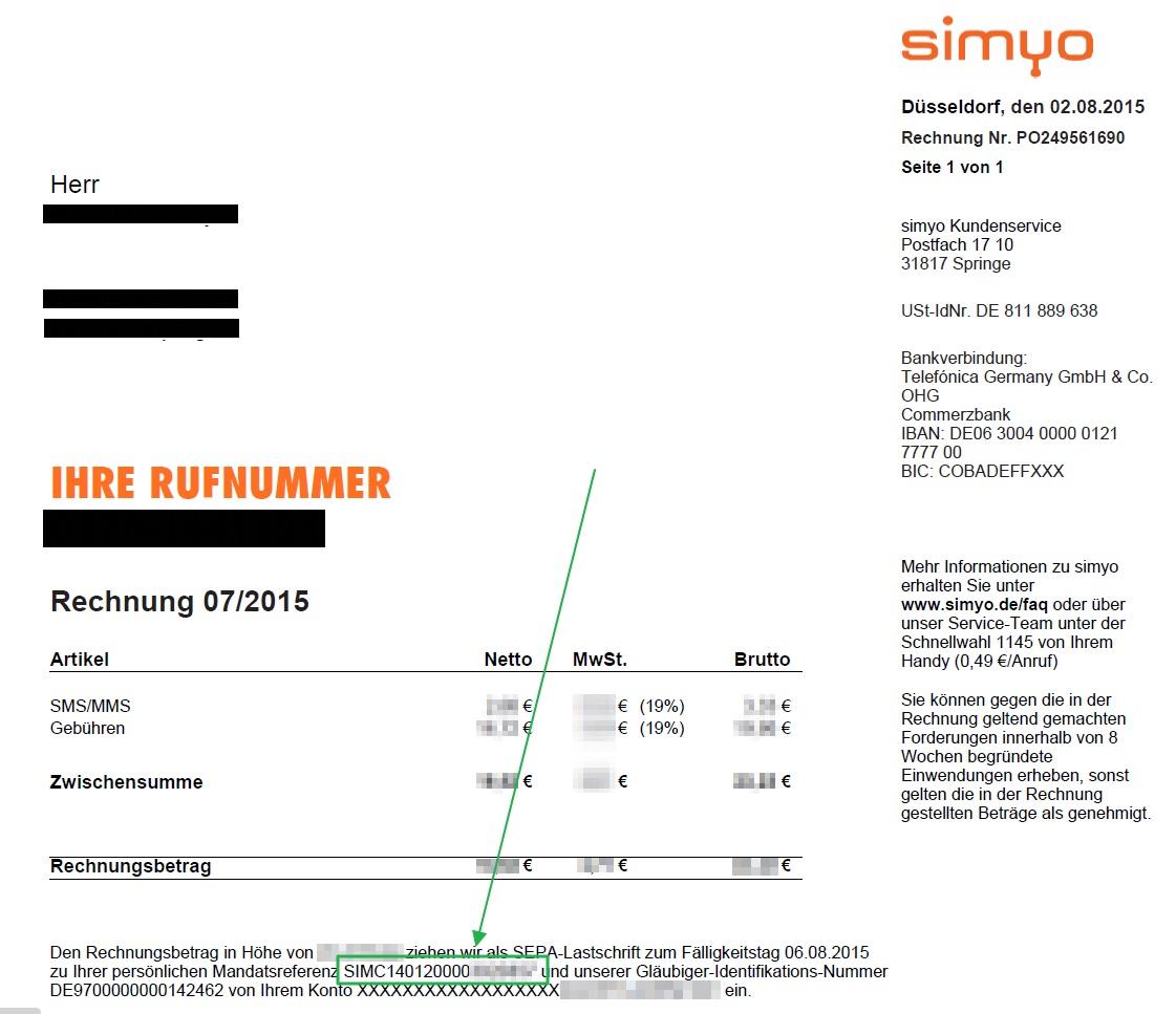 simyo bietet finanzamtskonforme online rechnung heise online. Black Bedroom Furniture Sets. Home Design Ideas