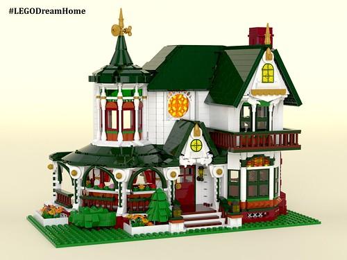 Victorian Dream Home on LEGO Ideas - Exterior