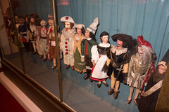 Collection of antique marionettes
