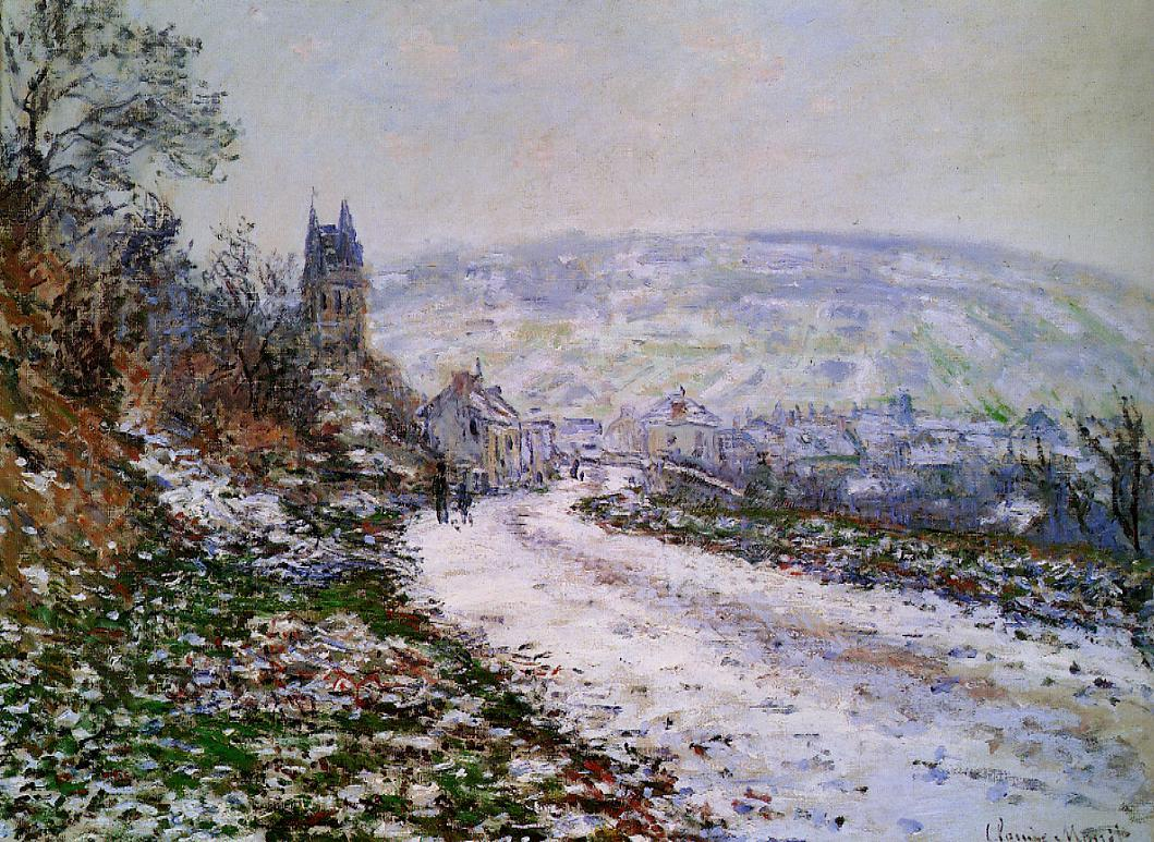 Entering the Village of Vetheuil in Winter by Claude Oscar Monet - 1879