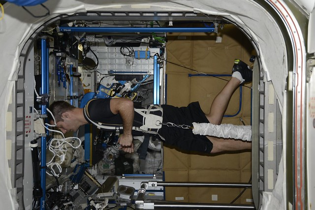 Exercise in the ISS