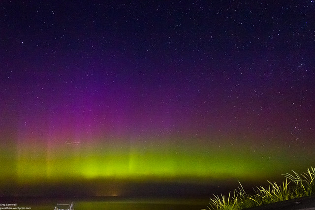 Aurora over Saginaw Bay