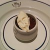 Finally, a chocolate pot with Chantilly cream
