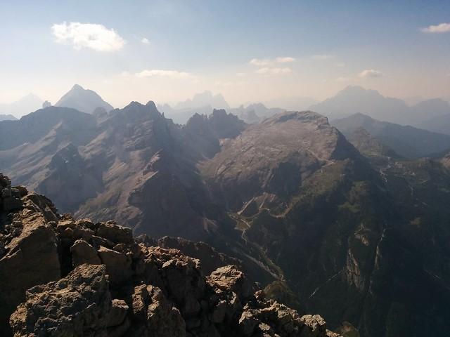 Ausblick vom Gipfel des Piz Conturines