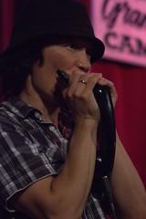 Ken on the harmonica