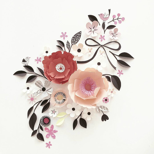 Sculpted Paper Flower Flourish