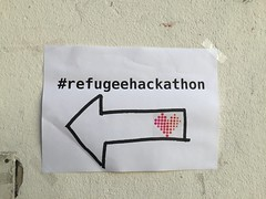 #refugeehackathon sign