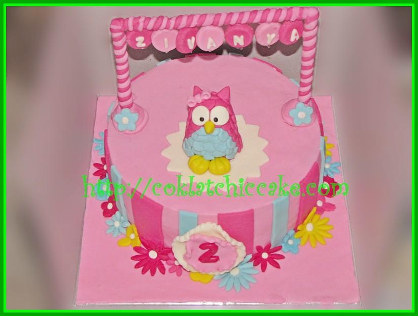 Cake owl / cake burung hantu