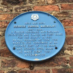 Photo of George Gibson Macauley blue plaque