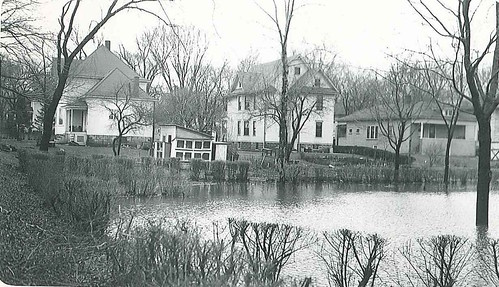 1948-back side of 631 S Hale Street Wheaton IL South Side Park is flooded