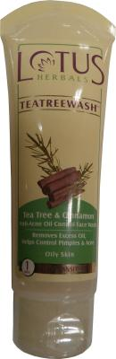 Best Face Wash for oily skin - Lotus Herbals Tea Tree and Cinnamon Anti Acne Oil Control Face Wash