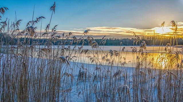 #AM Sunrise on a frozen lake - Sonnenaufgang an einem gefrorenen See
