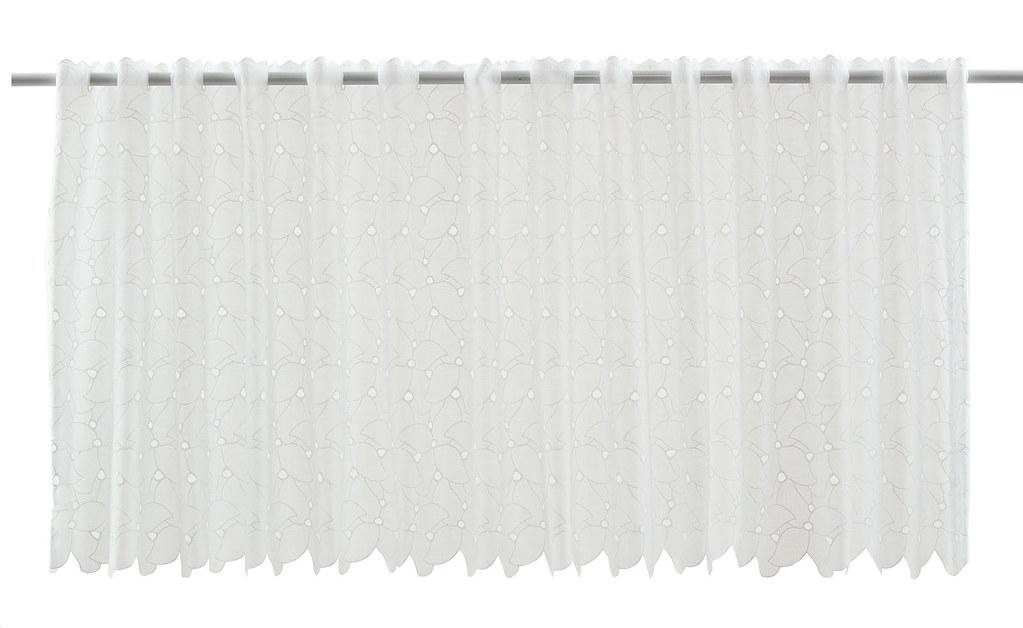 scheibengardine batist lochstickerei 47x10 5 wei gardine. Black Bedroom Furniture Sets. Home Design Ideas