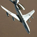 E-3 Sentry (AWACS) Primary function: Airborne battle management, surveillance, command, control and communications. Speed: 360 mph. Dimensions: Wingspan 130 ft. 10 in.; length 145 ft. 8 in.; height 41 ft. 4 in.; rotodome, 30 ft. diameter, 6 ft. thick, mounted 11 ft. above fuselage. Range: More than eight hours unrefueled. Crew: 17-23. (U.S. Air Force photo by Master Sgt. Dave Ahlschwede)