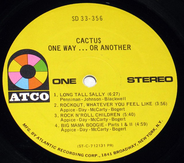"Cactus One Way... Or Another 12"" Vinyl LP"