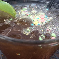 Those are sweet tarts crushed into my drink #grownupstuff
