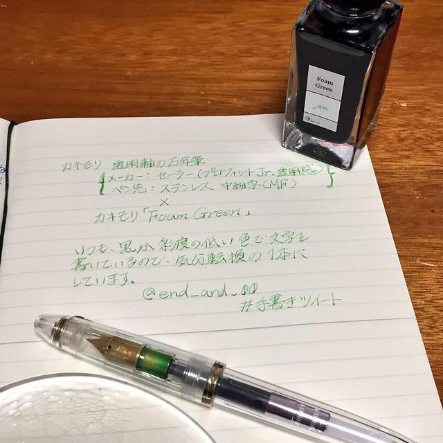 カキモリ万年筆とカキモリインク