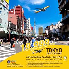 TOKYO EASY PACKAGE : แพ็คเกจทัวร์ญี่ปุ่น ตั๋วเครื่องบิน+ที่พัก (3 คืน) บินตรงจาก ดอนเมือง สู นาริตะ ราคาท่านละ 19,999 บาท  โดยสายการบิน NOK SCOOT   (รหัสทัวร์ 811) : ราคาเริ่มต้นท่านละ 19,999 บาท (ผู้ใหญ่ พักห้องละ 2 ท่าน เท่านั้น )  **ห้องเตียง Double Be
