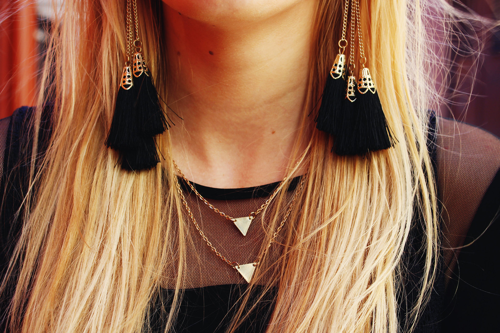 black-tassel-earrings