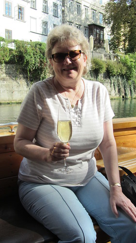 Cruising down the Ljubljanica