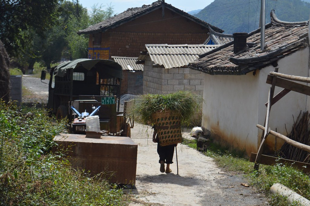 Local village in the north of  Yunnan China