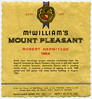 McWilliams Mount Pleasant label (1964)
