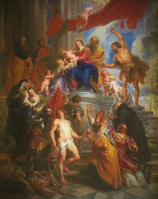 聖人たちに囲まれた聖家族1