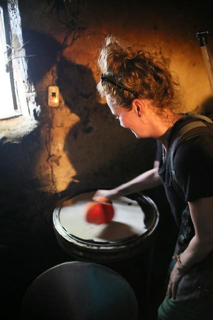 Making injera at Zewditu's