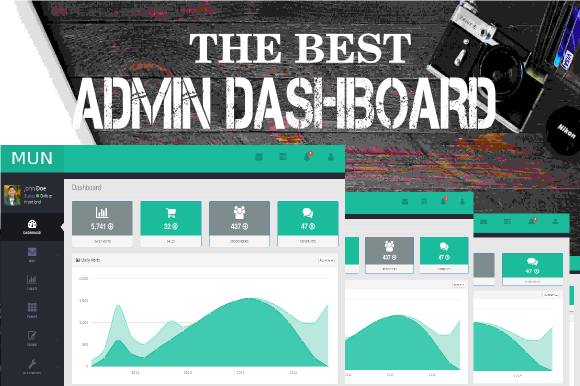 Creativemarket MUN - Admin Dashboard Template