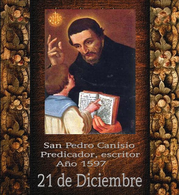 San Pedro Canisio.(†Dedicado  al P.Cotallo)