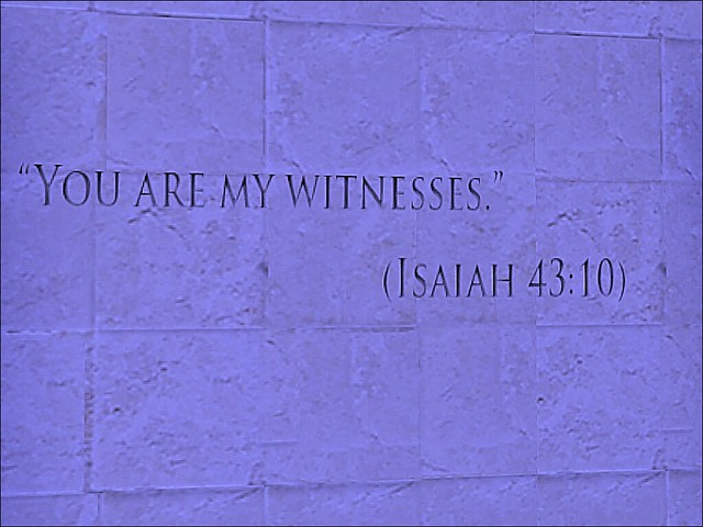 Holocaust Memorial Museum - Witness Engraved In Stone
