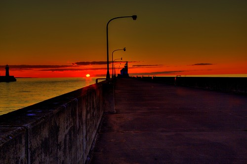 sunrise minnesota duluth canalpark duluthminnesota lakesuperior morning dawn scenery northamerica america usa canon canoneos canon6d 24105l pier lighthouse upnorth midwest digital geotagged photomatix hdr tonemapping northpierlighthouse perspective lakesuperiorsunrise greatlakes greatlakesregion