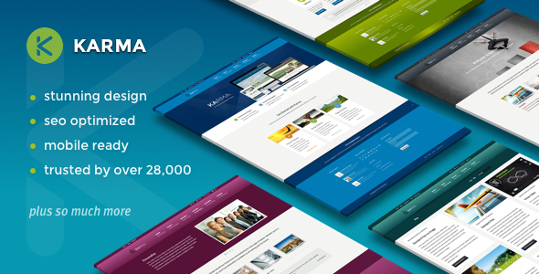 Karma v4.8.9 - Responsive WordPress Theme