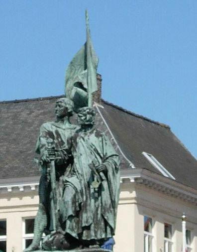 Statue de Jean Breydel et Pierre de Coninck à Bruges