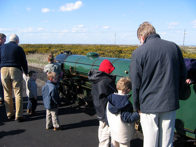 The Romney Hythe and Dymchurch railway at Dungeness.