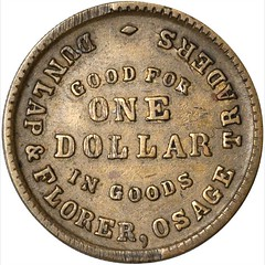 Indian Territory Osage Traders Token obverse