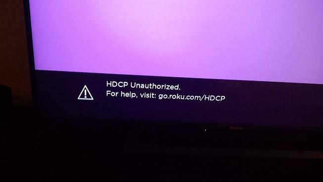 hdcp unauthorised roku error
