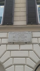 Photo of James Joyce stone plaque